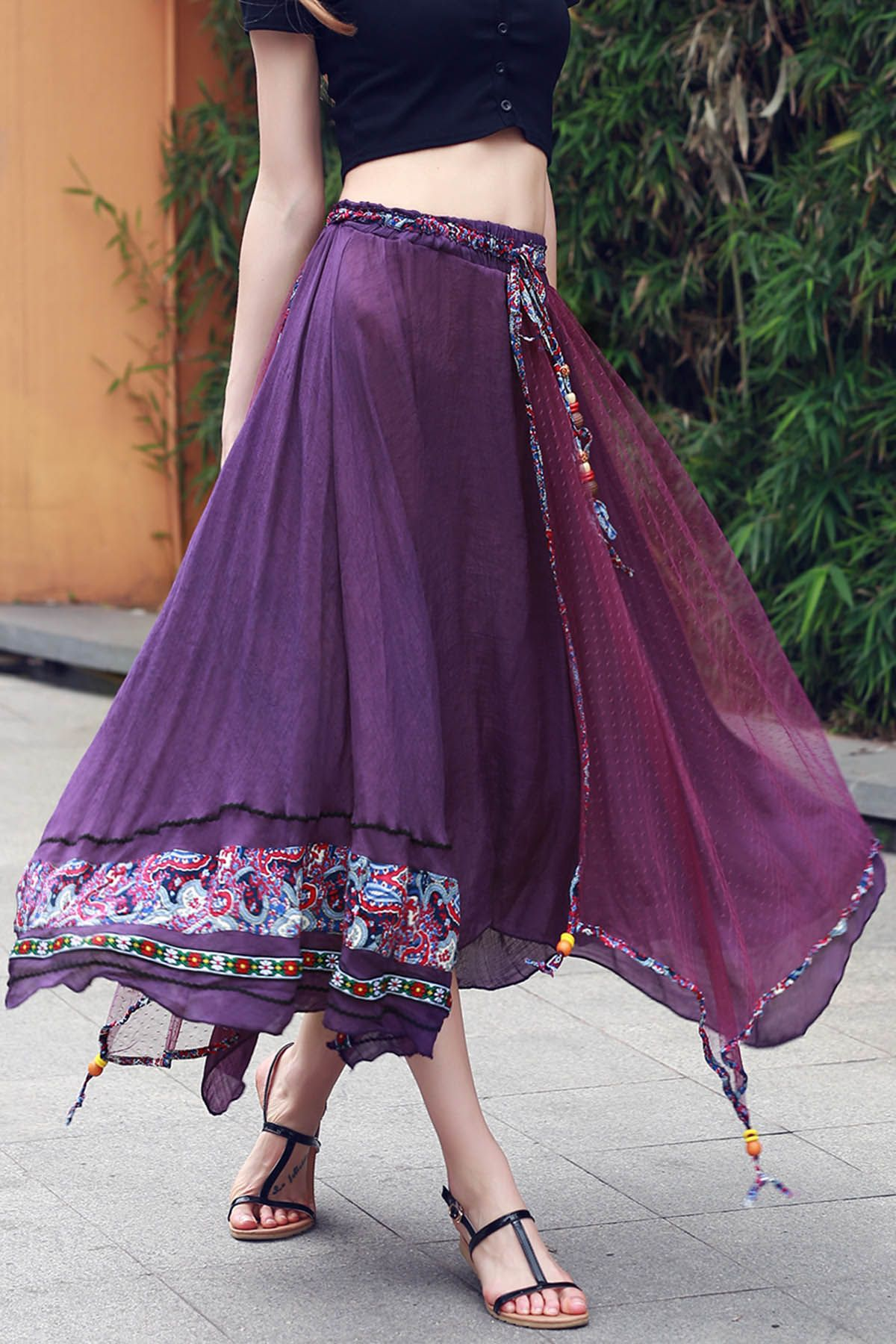 creative ethnic skirt outfit 12