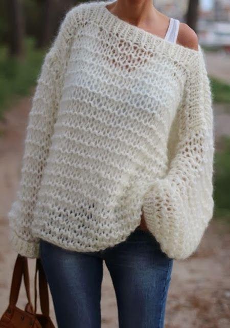 MES FAVORIS TRICOT-CROCHET: Modèle tricot gratuit : Le pull oversize Didi&Catc...