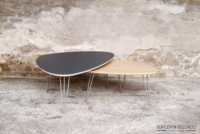 Table Basse Tripode Gentlemen Designers Mobilier Vintage Made In France Http Www Gentlemen Designers Fr Tablebasse Tripode Duo Vintage Gigogne Bois