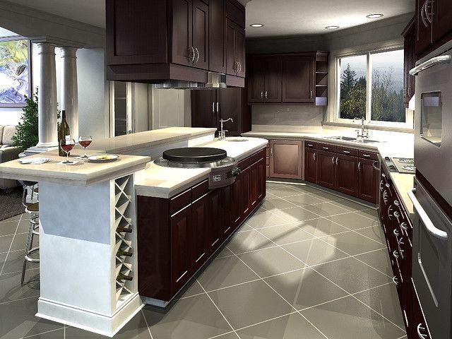 Evo Affinity 25e Circular Cooktop Installed In Kitchen Island Evo