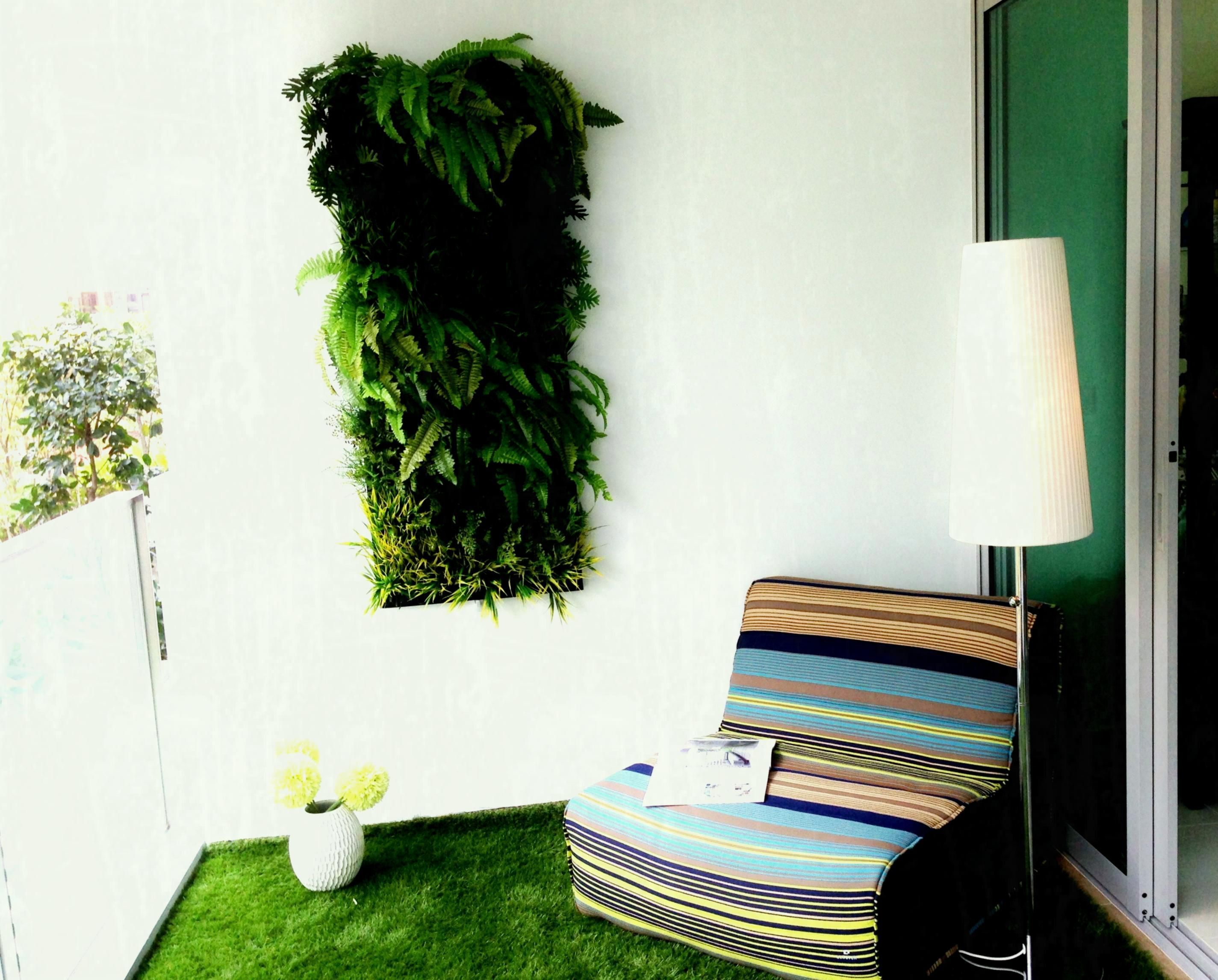 Small balcony design ideas artificial vertical green wall at loversiq atgreen plant interior what is houston also rh in pinterest