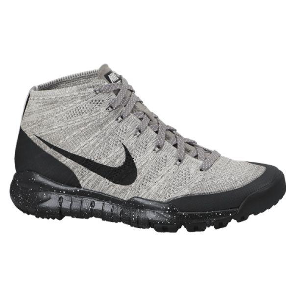 #Nike Flyknit Trainer Chukka FSB Light Charcoal/Black-Sail/Dark Grey #sneakers