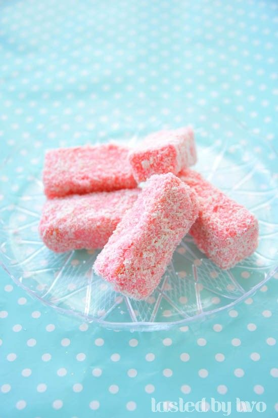 Pink Lamingtons! | Must try | Valentines food, Pink sweets ...