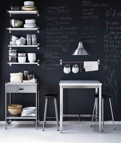 Ikea Kitchen Chalkboard Wall Compact Kitchen Design