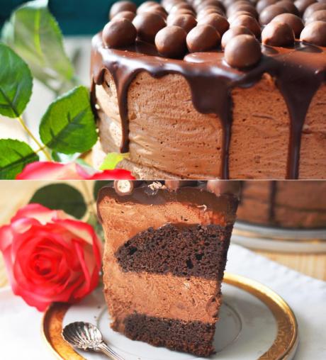 Муссовый торт с шоколадными коржами и Нутеллой. | Сладкие ...