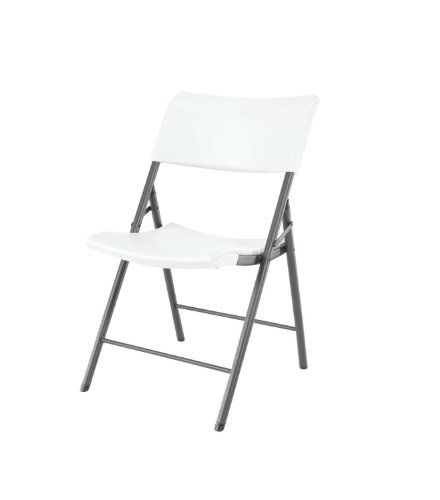 lifetime 80191 light commercial folding chair white granite with