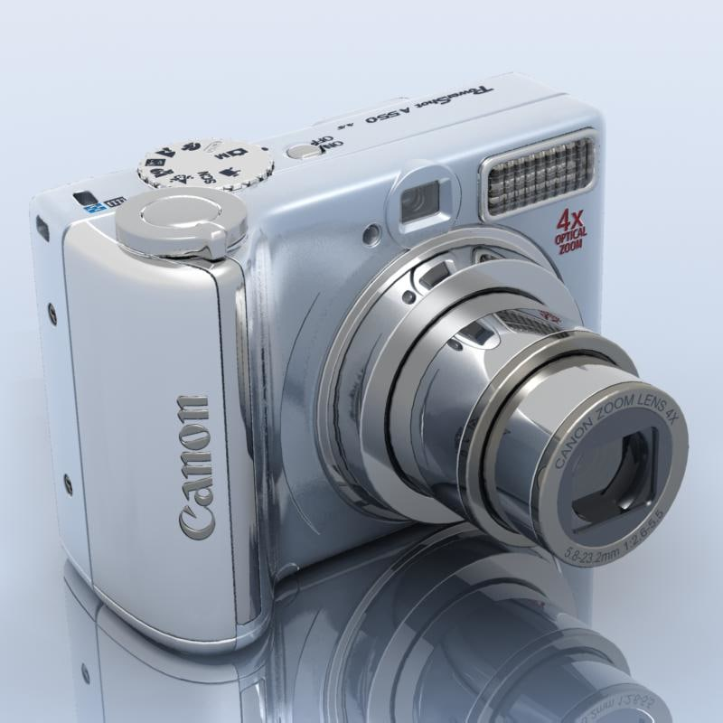 Canon Powershot A550 3d 3ds Powershot Best Digital Camera Canon Powershot