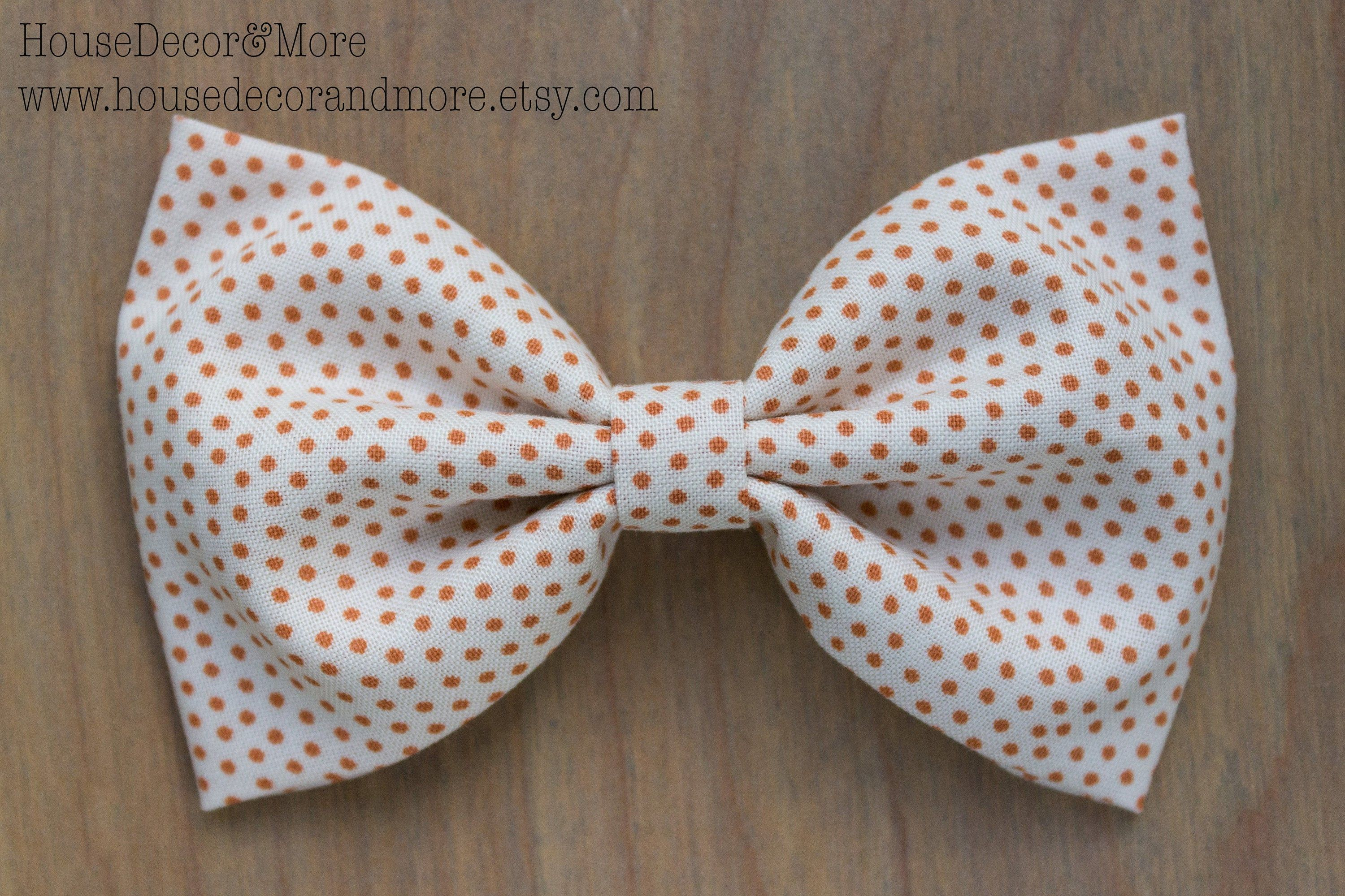 Fall Fabric Hair Bow - Halloween Fabric Hair Bows - Thanksgiving Fabric Hair Bows - Birthday Hair Bows