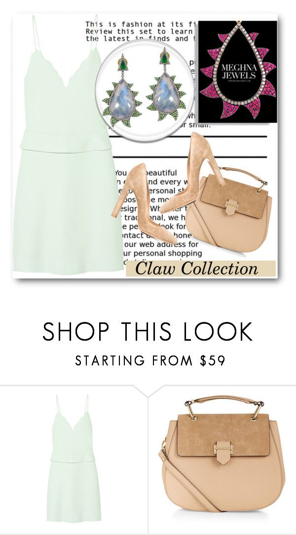 """""""Meghna Jewels !"""" by dianagrigoryan ❤ liked on Polyvore featuring Carven, Accessorize and Gianvito Rossi"""