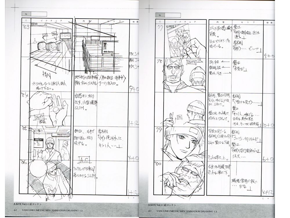 Yasuomi Umetsu Doujinshi  Key Animation Drawing Vol A Kite Vol