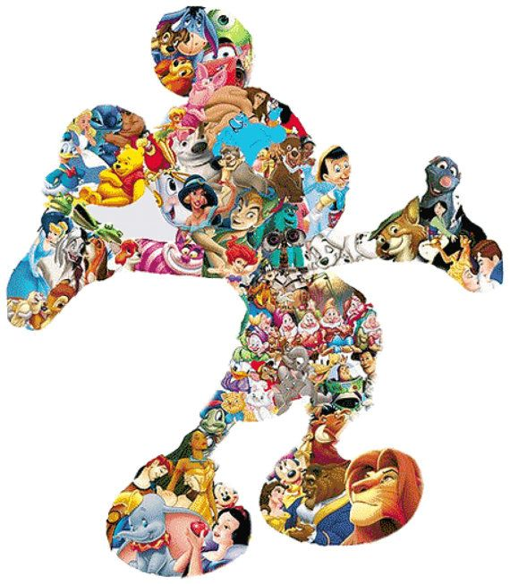 Disney Characters Motif 14 Count Cross Stitch by BluebellThreads