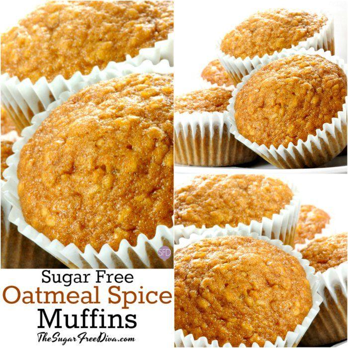 Sugar Free Oatmeal Spice Muffins Sugarfree Muffins Recipe