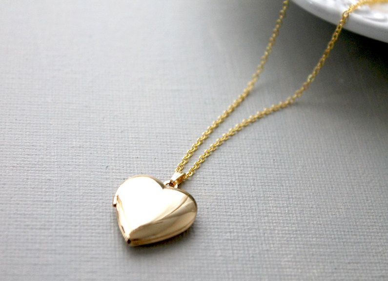 1f53bc575d2674 Gold Heart Locket Necklace. heart locket necklace. anniversary ...