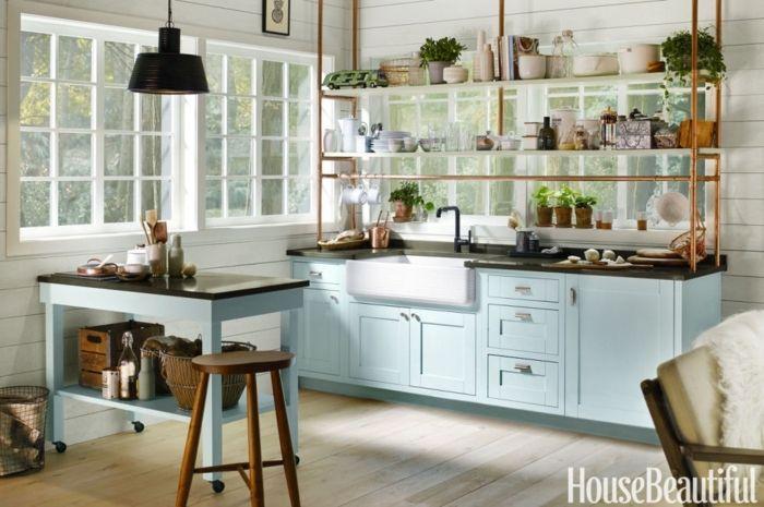 diseñar cocina, cómo ganar amplitud decorando una cocina pequeña ...
