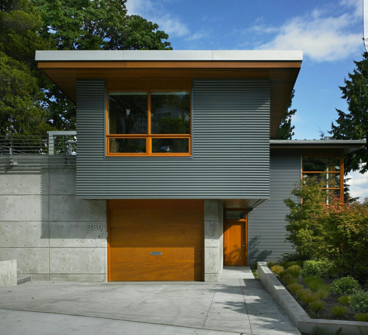 contemporary with cedar trim metal building homes house on modern house designs siding that look amazing id=28541