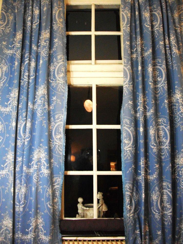 paire de grands double rideaux en toile