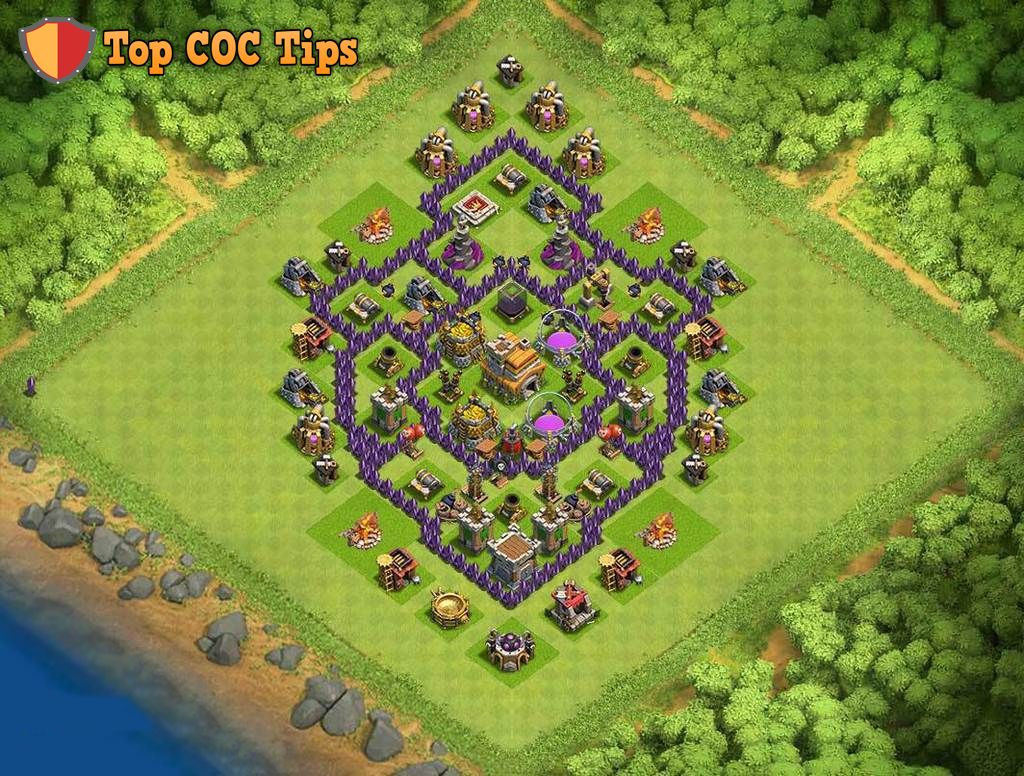 Want The Best Hybrid Base For Your Th7 In Clash Of Clans Here It Is
