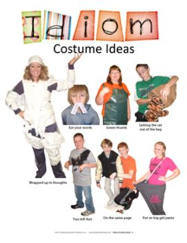 f25acea0567d Idiom Costume Ideas: Middle School | text dependent questions ...