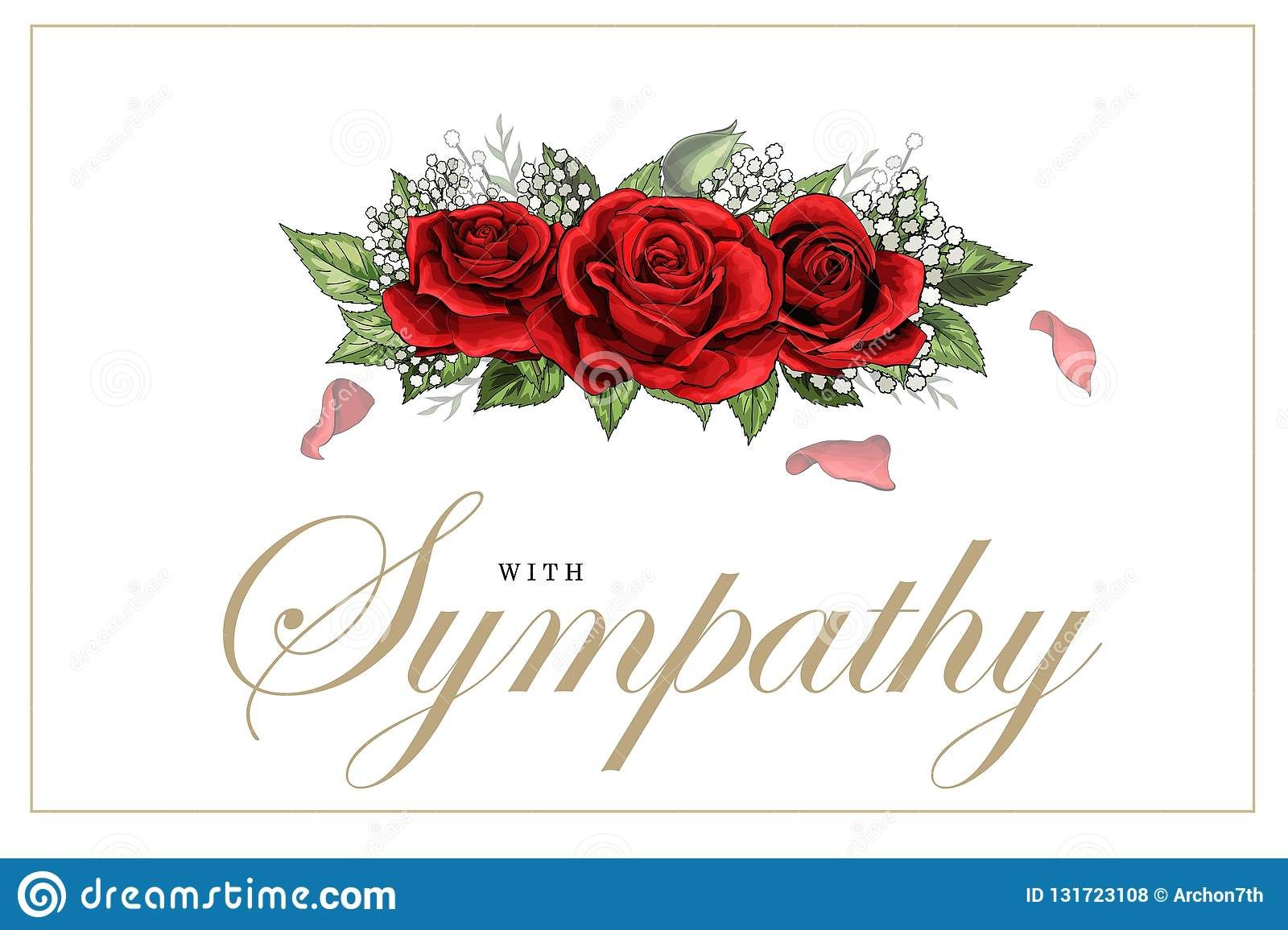 The Enchanting Condolences Sympathy Card Floral Red Roses Bouquet And With Regard To Sorry For Your Loss Card Template Di Sympathy Cards Red Rose Bouquet Cards