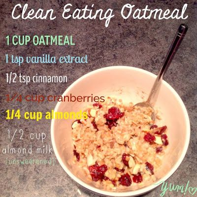 Becoming a Beachbody Coach | Lisa Decker: Cranberry Almond Oatmeal