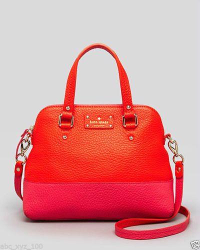 Kate Spade New York Pink Orange Grove Court Maise Satchel Shoulder Bag