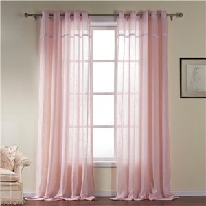 Pink Sheer Curtain Modern Cotton Custom Curtain For Living Room