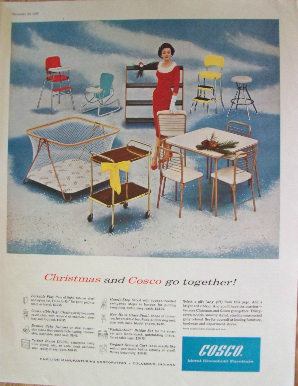 Cosco Metal Furniture Ad ~ Household Christmas Gifts ~ Elegant Woman ...