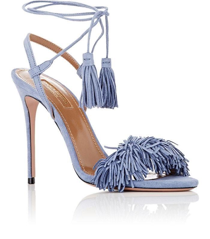 open toe sandals - Blue Aquazzura wpwov