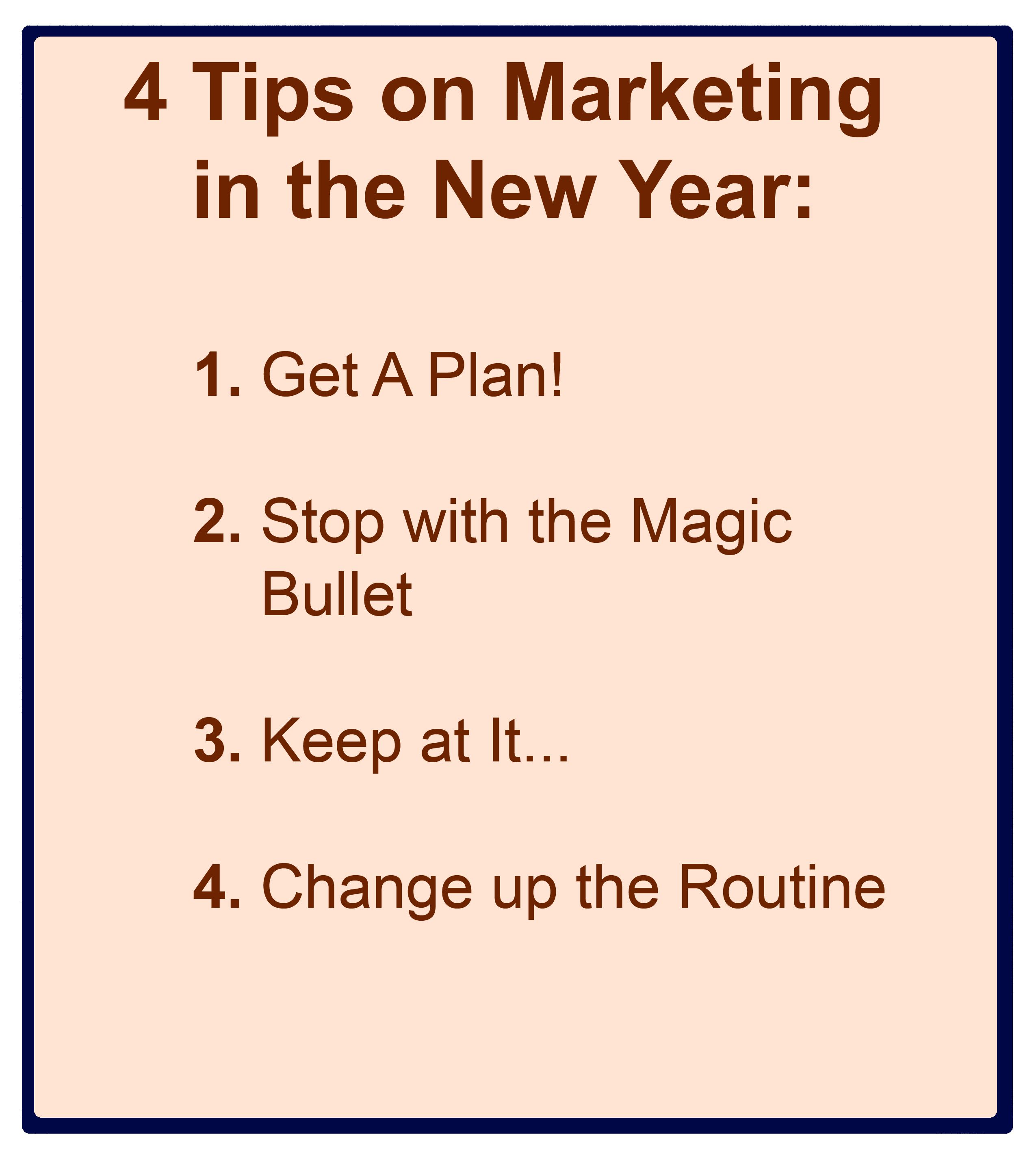 New Year's Resolutions & Marketing Success (or Failure