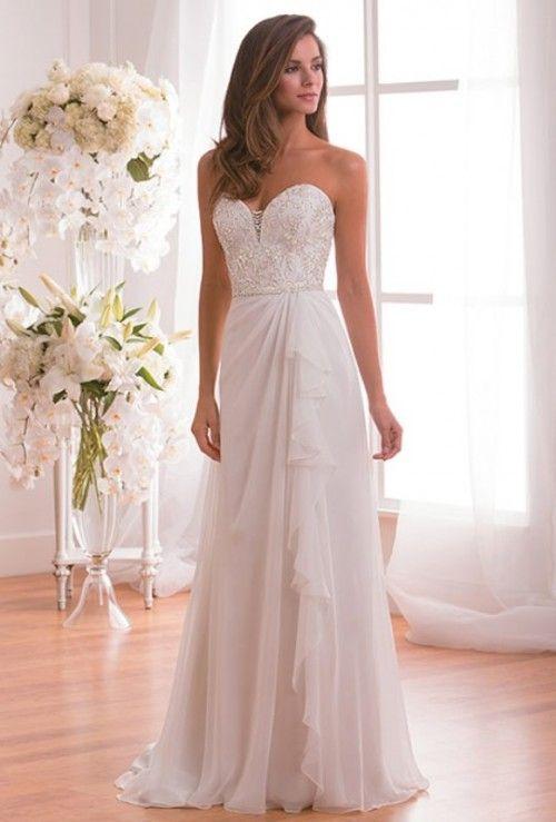 23 preciosos vestidos de novia strapless - clásicos | peinados y