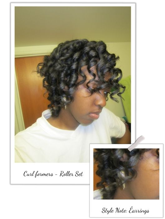 THE NATURAL HAVEN: Magic Leverag: Curlformers 'Knock Off' - great for short hair