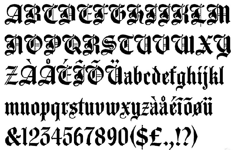 Old English Lettering Tattoos Art Pictures Images Photo