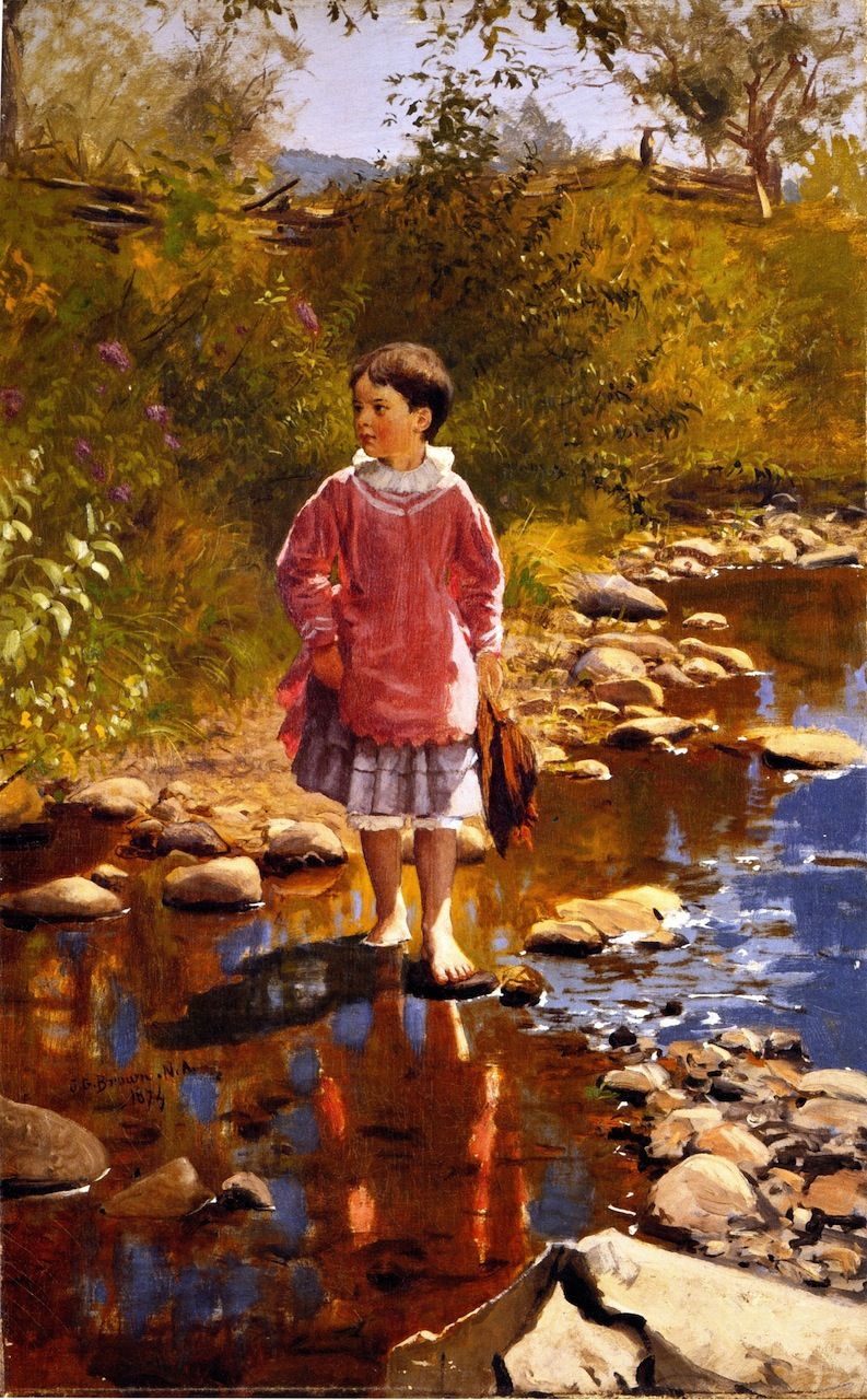 Crossing the Bank by John George Brown, 1874  Quotes for a Mother's Heart: October 2012, blog