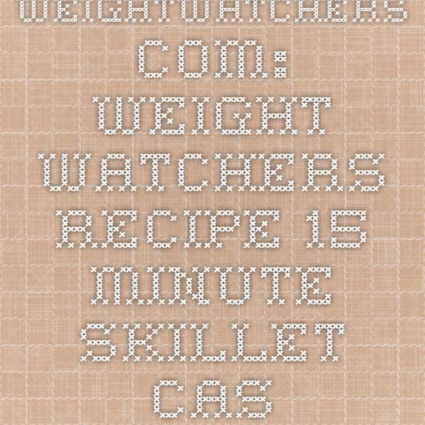 WeightWatchers.com: Weight Watchers Recipe - 15 Minute Skillet Cassoulet