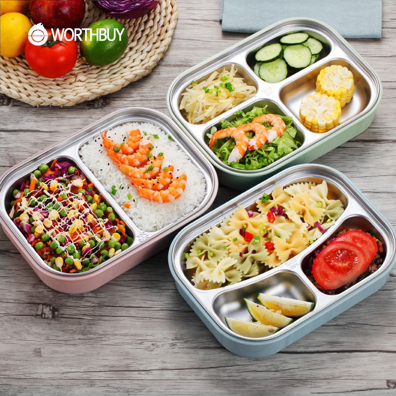 Worthbuy 304 Stainless Steel Japanese Lunch Boxs With Compartments