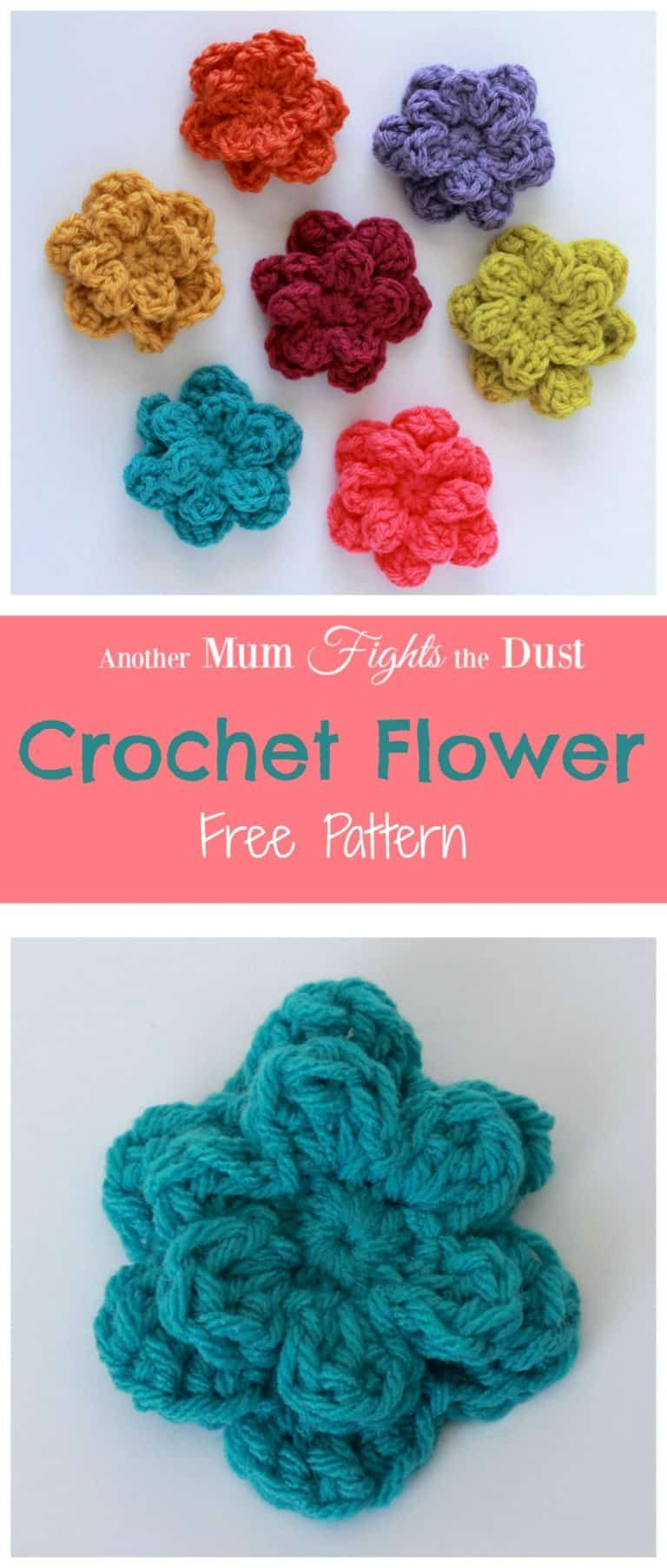 Free crochet flower pattern perfect for  summer project use these appliques go add to any of your projects splash colour also party stuff pinterest flowers rh