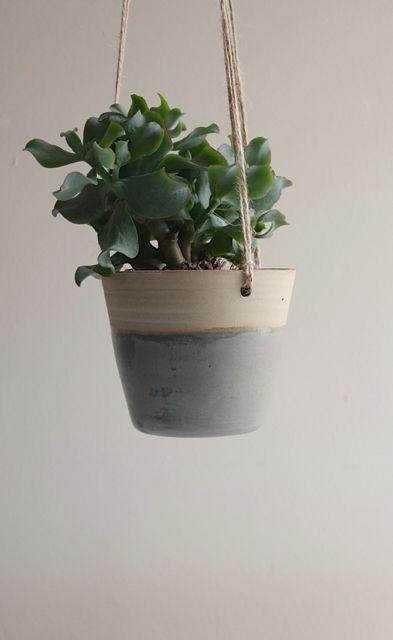 Grey Stoneware Planter made by Kara Leigh Ford Ceramics