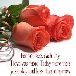 valentines day wish with roses send e cards to your valentine - Valentine Wish