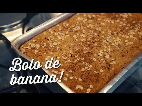 Como fazer bolo de banana sem trigo, sem açúcar e sem leite - YouTube
