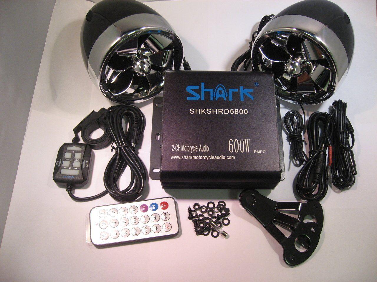 Shark Shkamp5800mx6800 600 Watt Motorcycle Marine Audio System w ...