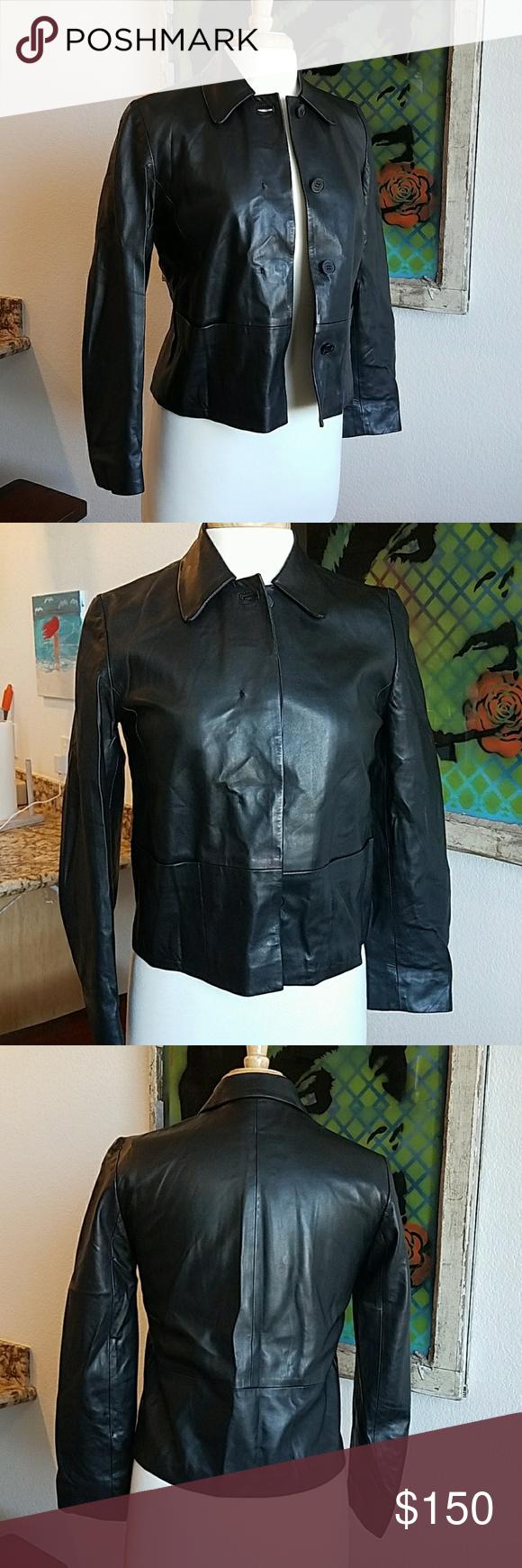 Bally black leather jacket size Pinterest