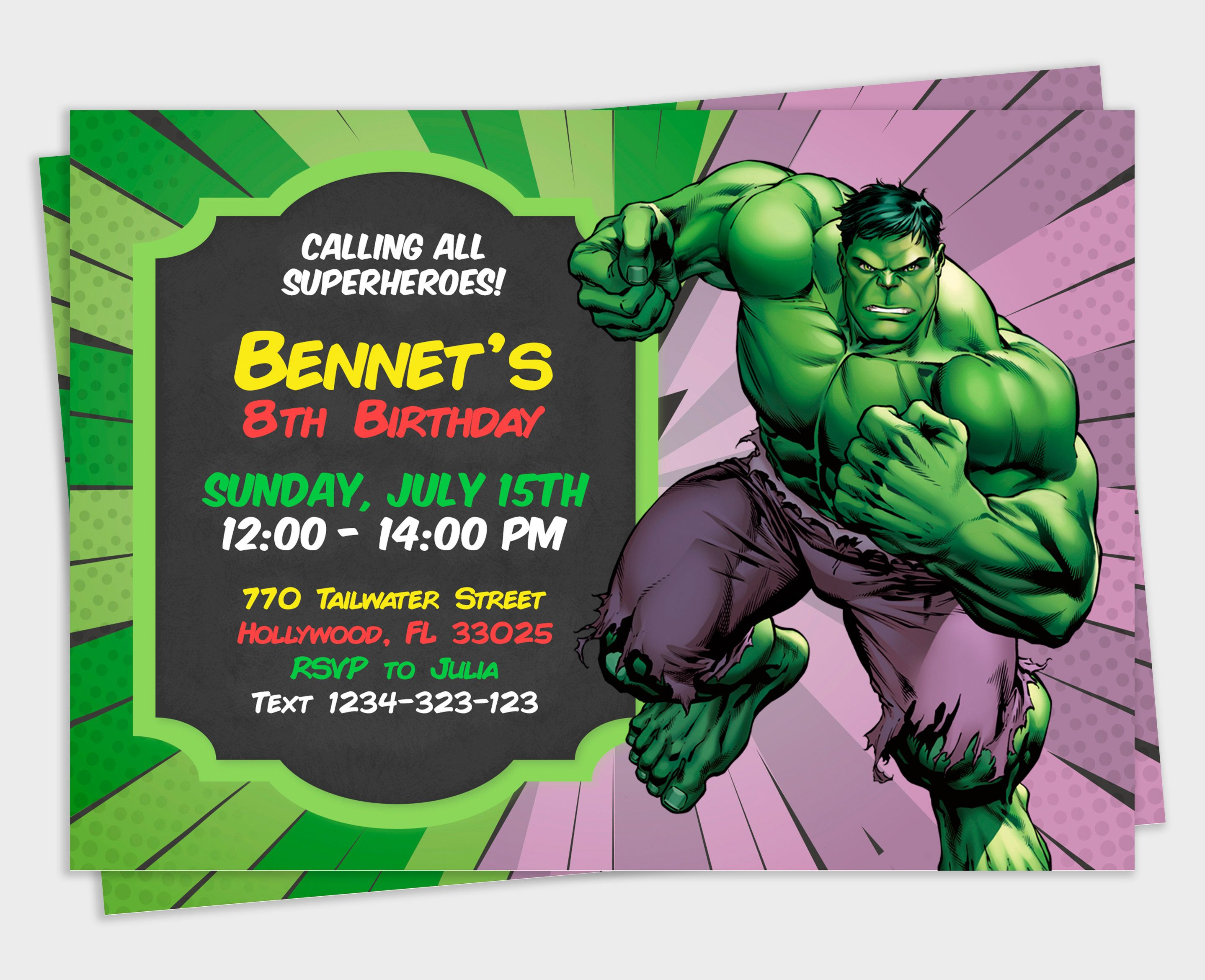 Hulk Invitation Hulk Party Hulk Birthday Birthday Invitation Avengers Invitation Invitation For Kids Print Hulk Birthday Hulk Party Hulk Birthday Parties