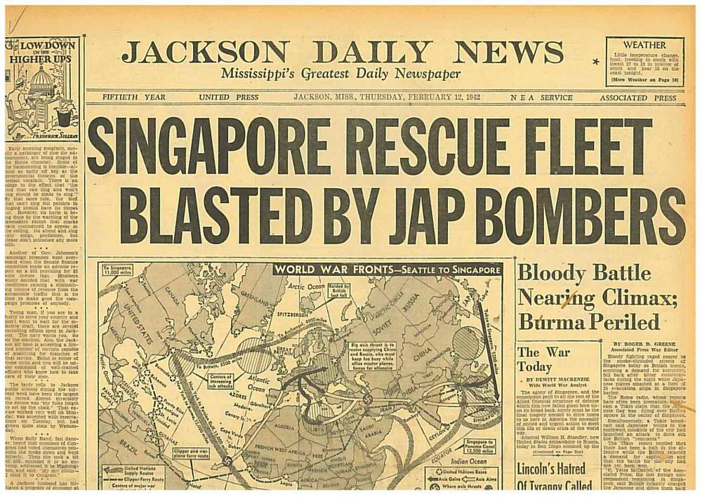 Fall Of Singapore Worst Disaster In British Military History Feb
