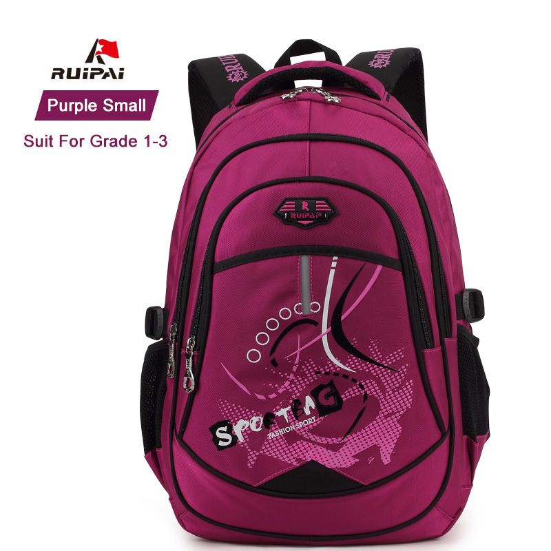 2dd46fc6e7 RUIPAI Polyester Kids Backpack Schoolbag Satchel For Kids Baby s Bags  Student Rucksack Orthopedic School Backpack for Boys