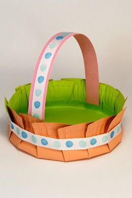 Spring paper plate crafts paper plate basket easter baskets and paper plate basket easter baskets and easter negle Images