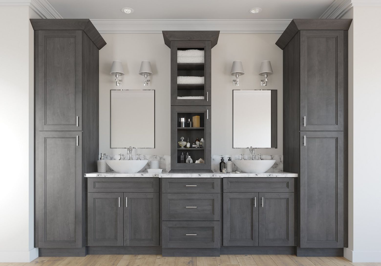 How To Store More In Your Master Bathroom - The RTA Store ...