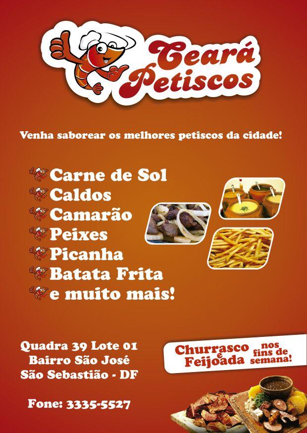 Panfleto Ceará Petiscos Art\u0027s Pinterest