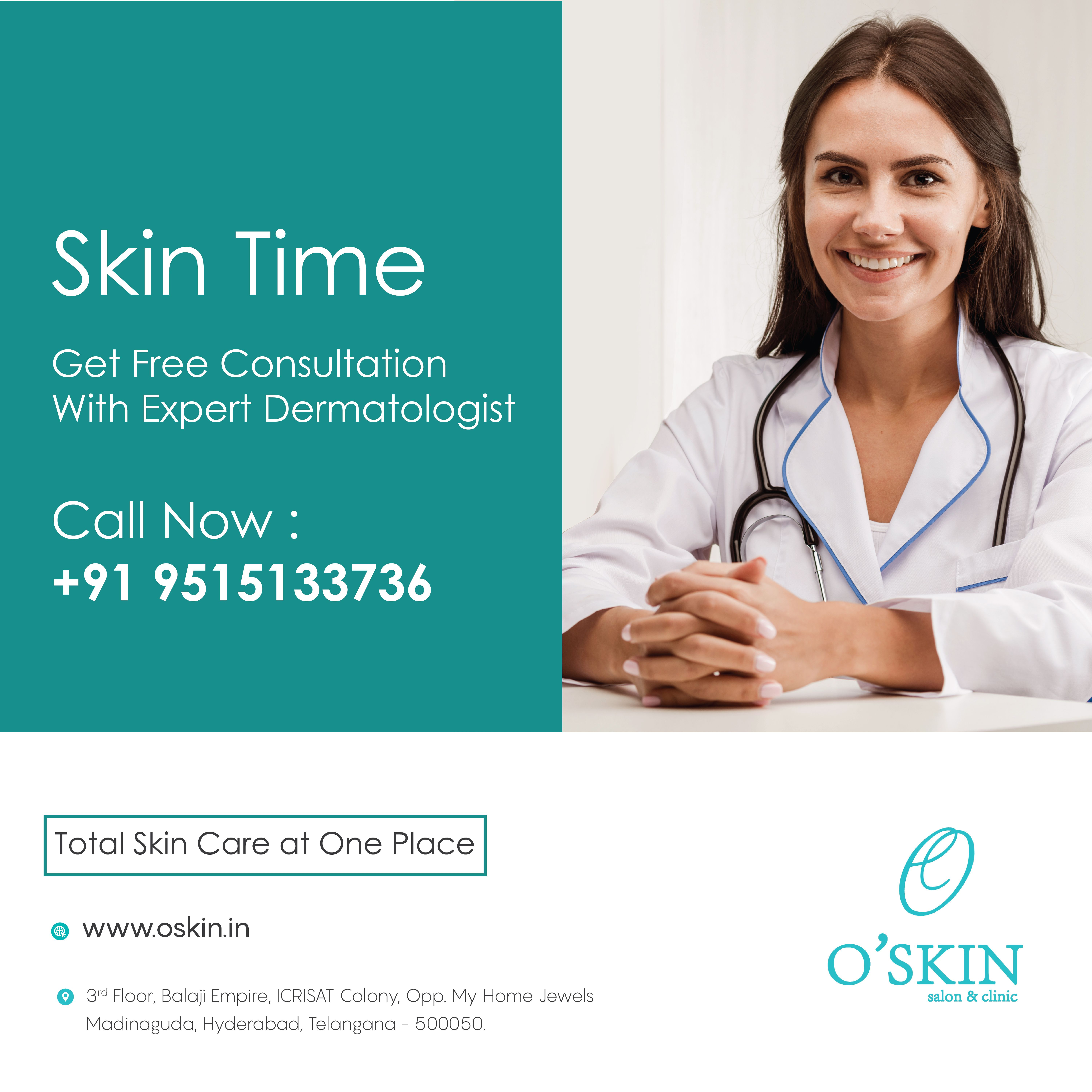 Free Consultation With Expert Dermatologist At Oskin Clinic Madinaguda Hyderabad Book Your Appointment Now Call Skin And Hair Clinic Skin Clinic Good Skin