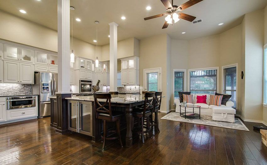 27 open concept kitchens pictures of designs layouts open kitchens white cabinets and. Black Bedroom Furniture Sets. Home Design Ideas