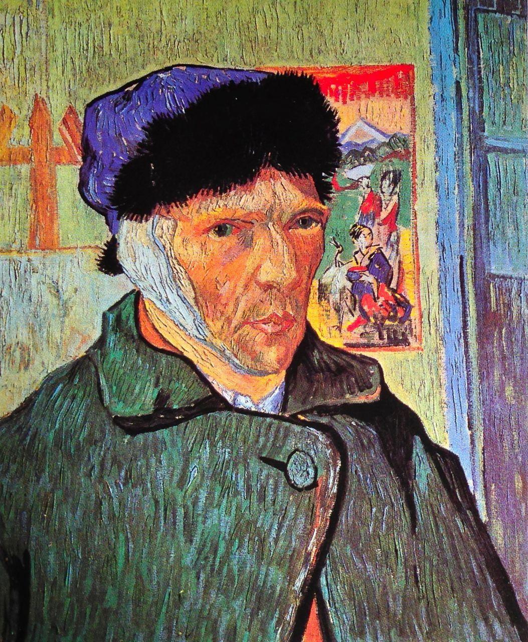 Vincent van Gogh. SelfPortrait with Bandaged Ear. Arles